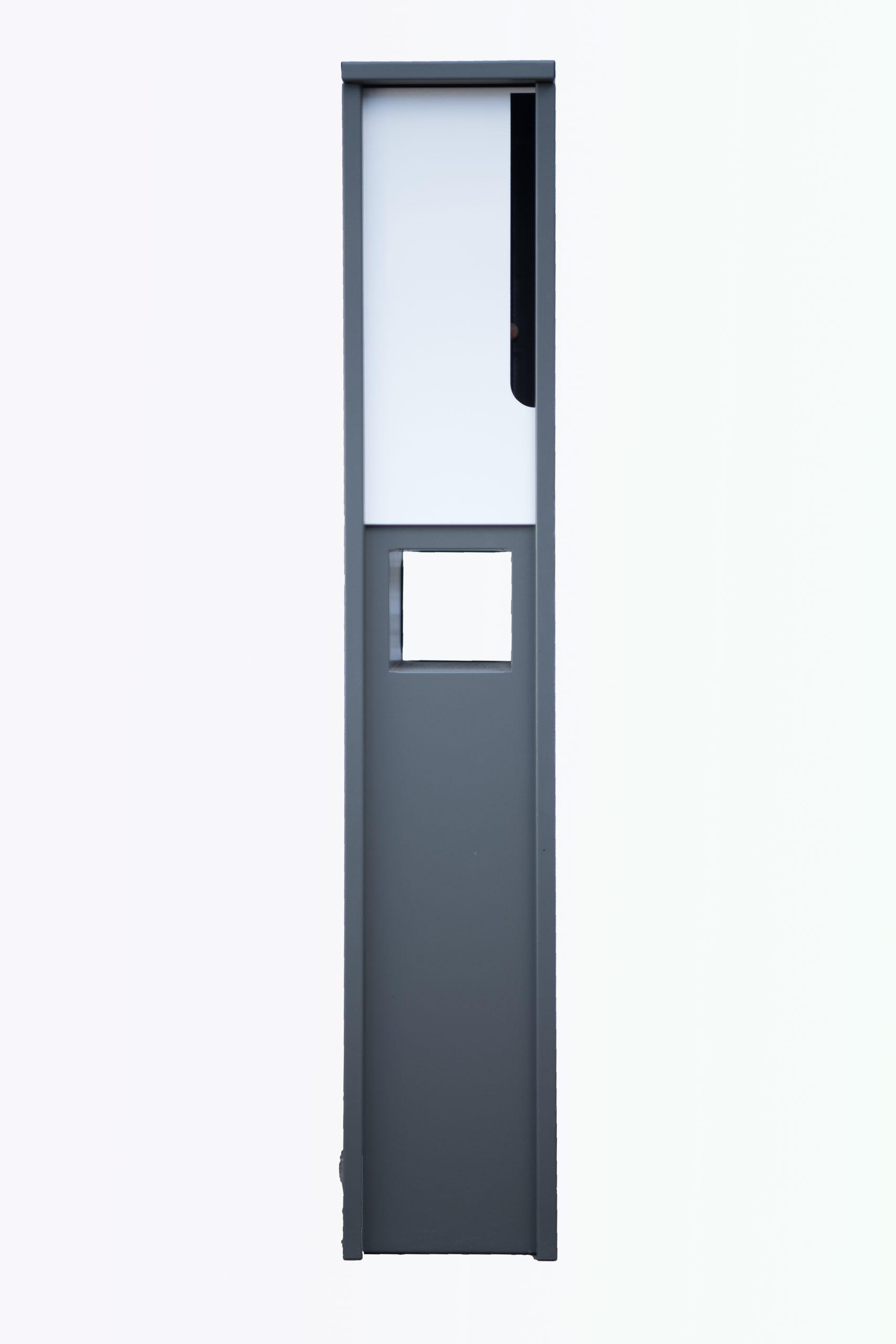 Metal Mailbox Steel Grey JHC 6001