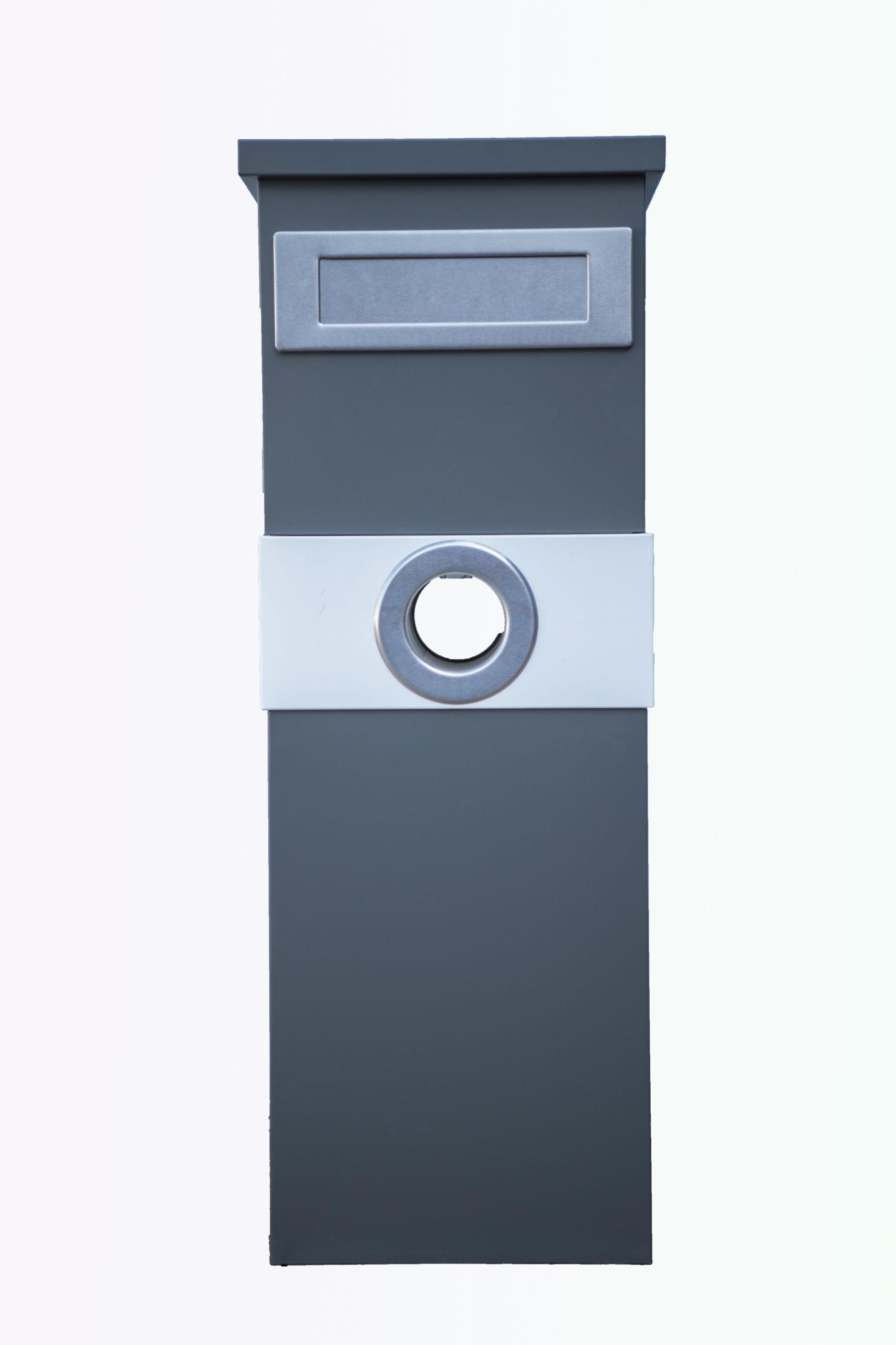 Metal Mailbox Steel Grey JHC 6003 Melania Grey
