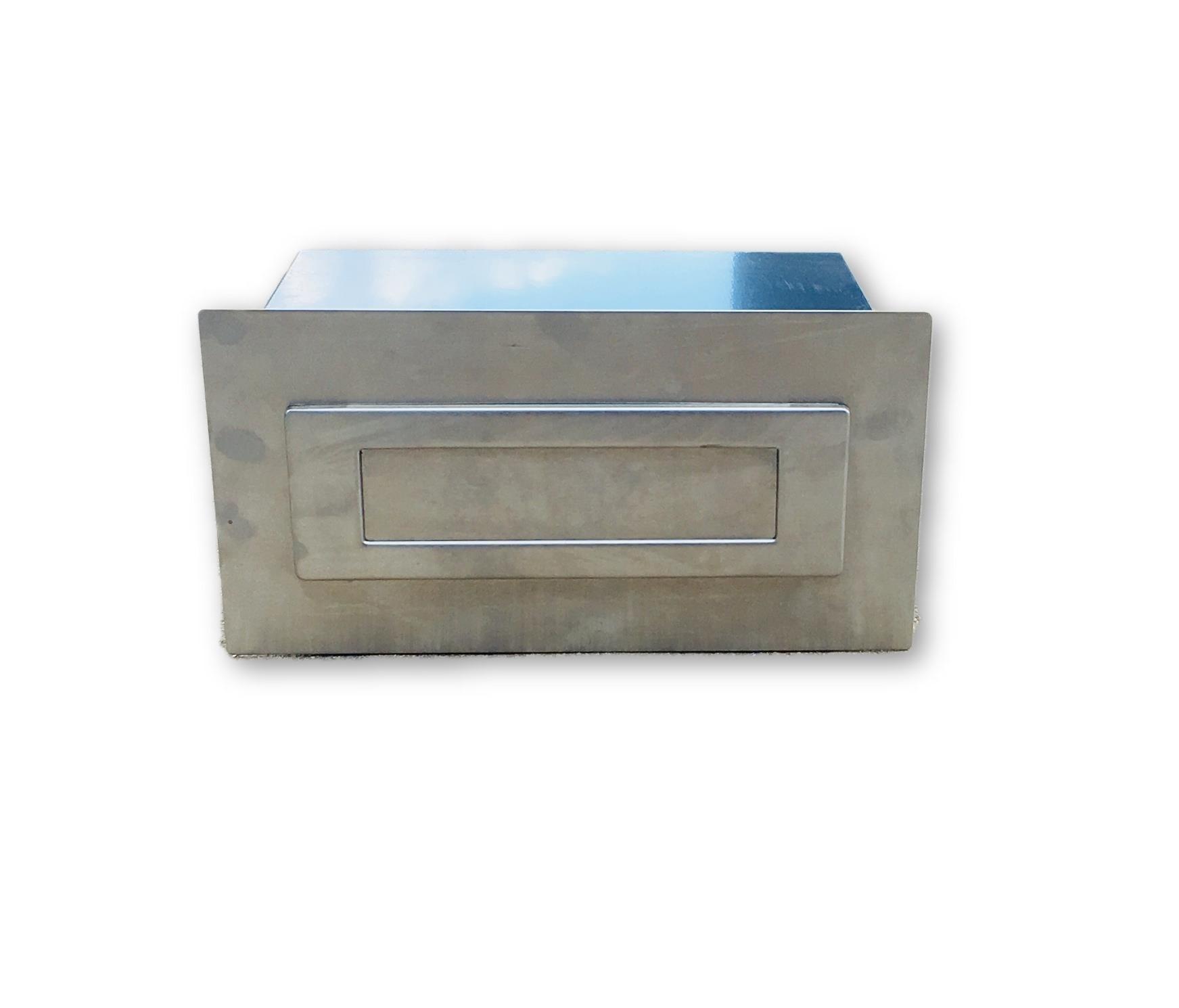 Stainless Budget Brick Box - Stainless Steel Mailbox Budget Brick Box