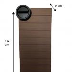 Metal Mailbox Brown ES015