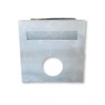 Brick Insert Letter Box Silver