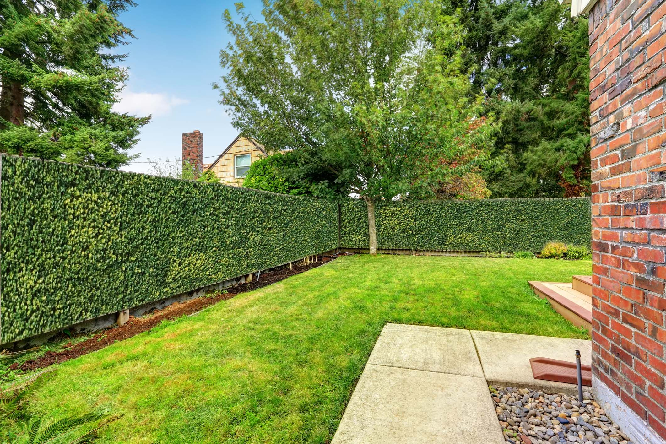 Artificial Hedges used for Garden Makeovers