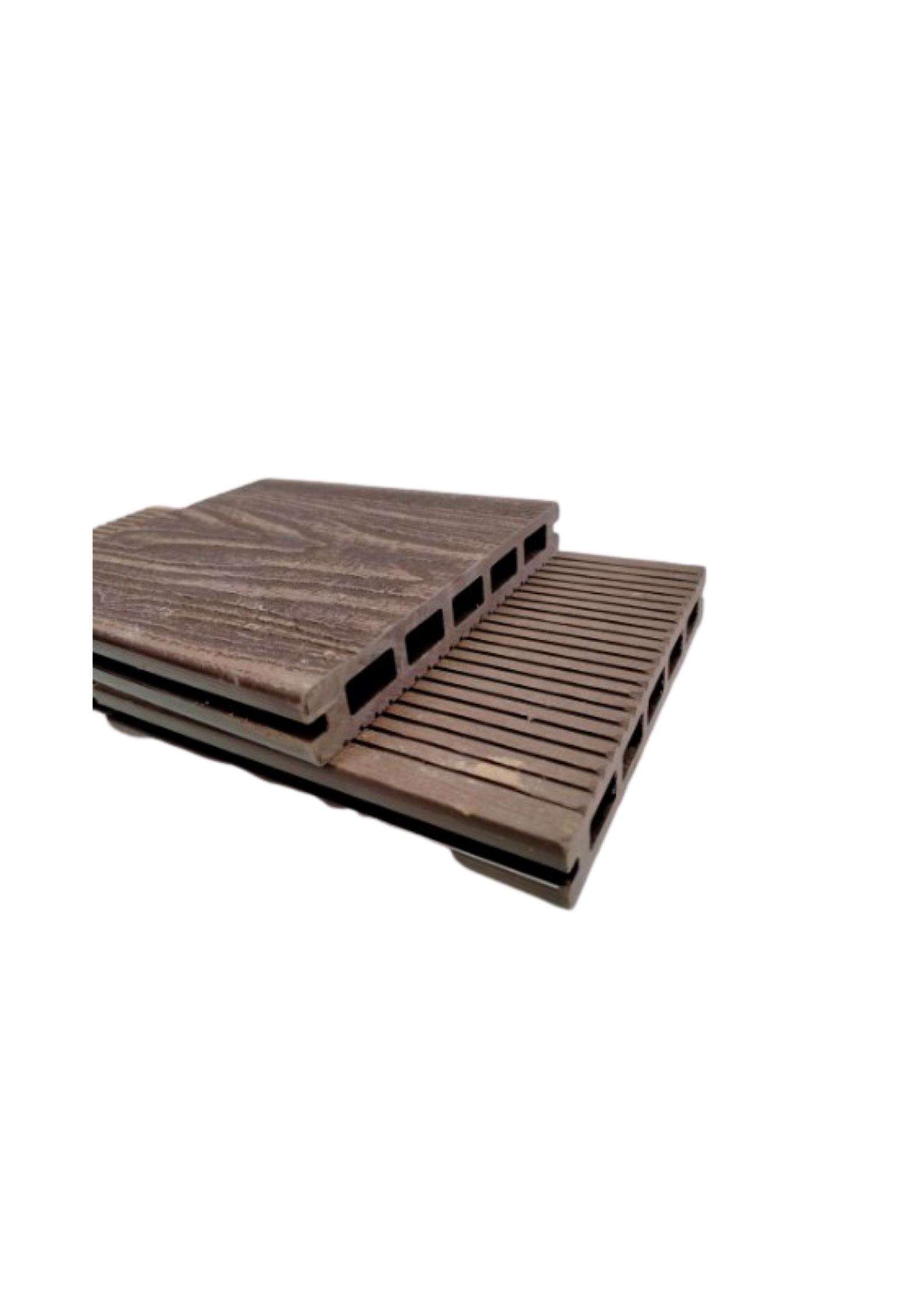 3D Hollow Composite Decking Boards 145 x 21 x 5400mm Coffee Colour