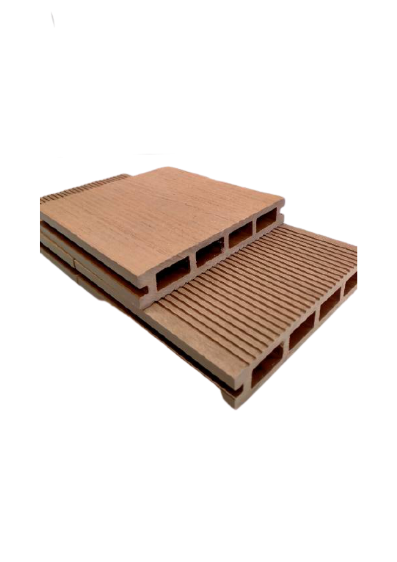 3D Hollow Composite Decking Boards 150 x 25 x 5400mm Light Brown Colour